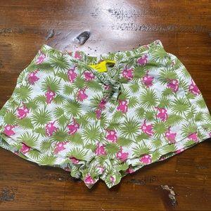 Girls Roller Rabbit Pink Monkey Lightweight Shorts